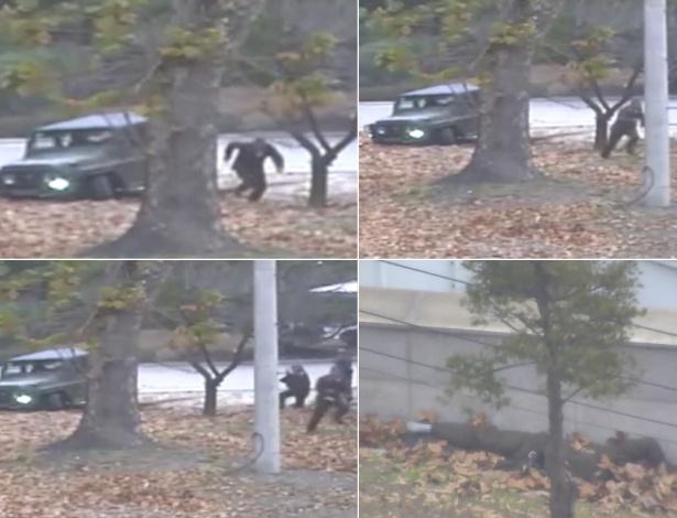Soldado Norte Coreano em fuga