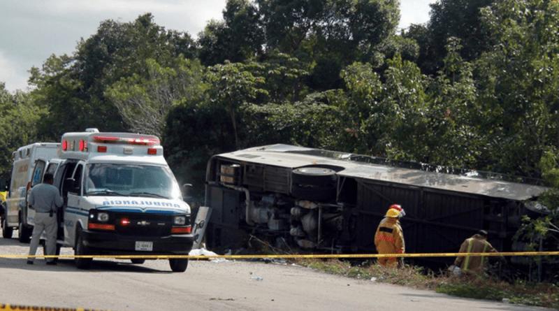 acidente de ônibus no México