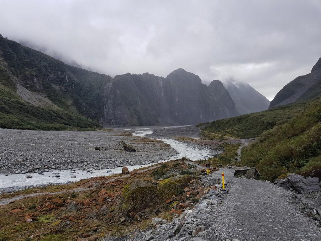 Fox Glacier, costa oeste da Ilha Sul, Nova Zelândia
