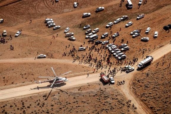 Resgate de corpos de avião iraniano