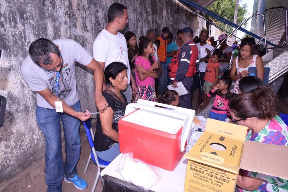 Vacinação contra sarampo em Boa Vista (RR)