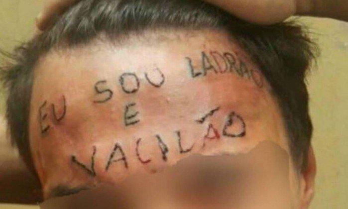 Adolescente torturado com tatuagem