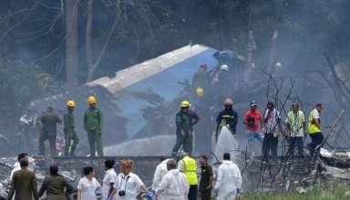 Avião cai ao decolar de Havana