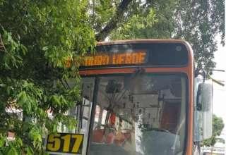Colisão entre ônibus e carro