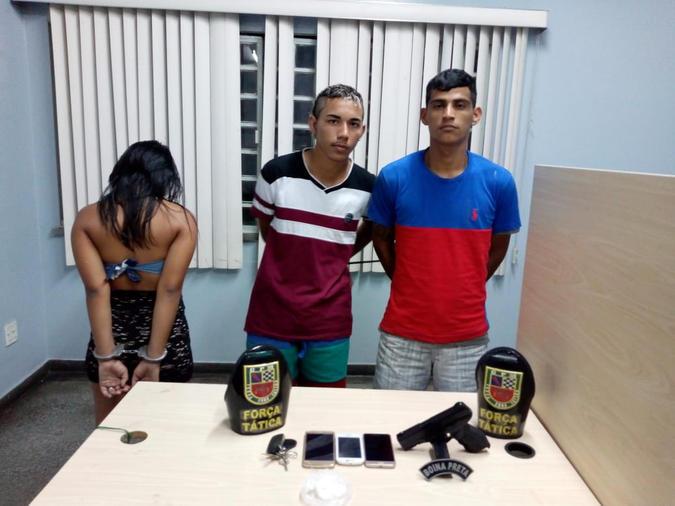 Trio de assaltantes
