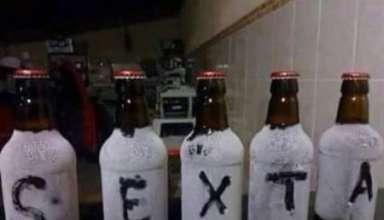 cerveja congelada