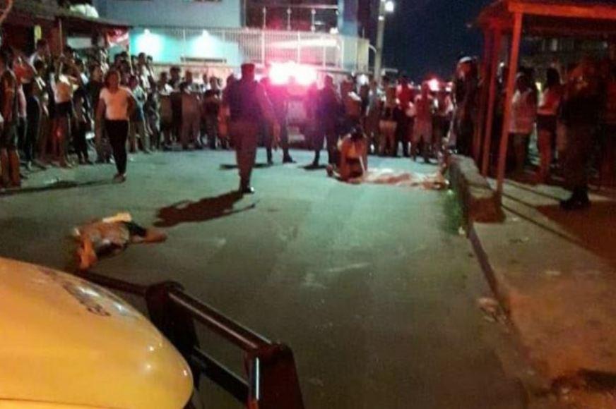 mortos a tiros no Petrópolis