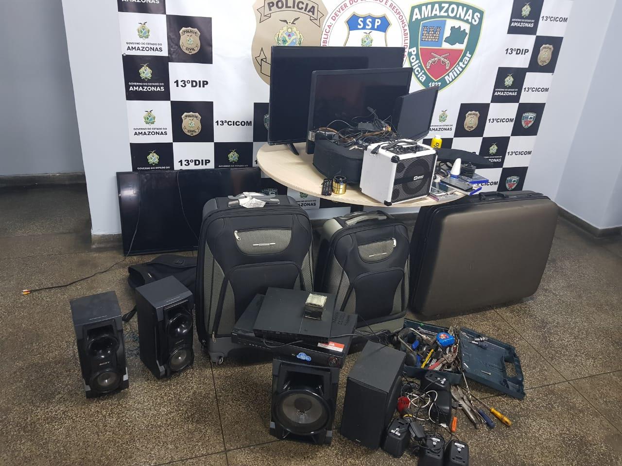 aparelhos eletrônicos furtados