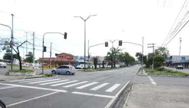 Acidente em avenida de Manaus