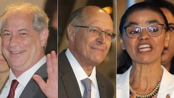 Ciro, Alckmin e Marina